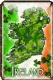 Map of Ireland Metal Embossed Sign 30cm x 20cm (sg01833)